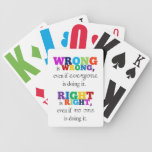 Certo & Errado Baraja Cartas De Poker