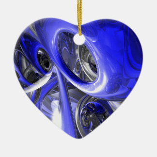 Cerulean Abstract Ornament