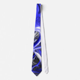 Cerulean Abstract Tie
