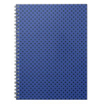 Cerulean Blue And Small Black Polka Dots Pattern Journals