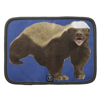 Cerulean Blue Honey Badger Don't Care Pattern Folio Planners