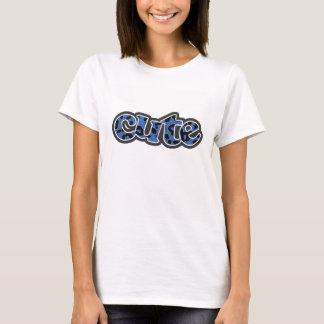 Cerulean Blue Leopard Animal Print T-Shirt