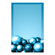 Cerulean Blue Ornaments Holiday Event Stationery