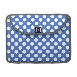 Cerulean Blue Polka Dots Sleeve For MacBooks