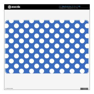 "Cerulean Blue Polka Dots Skins For 11"" MacBook Air"