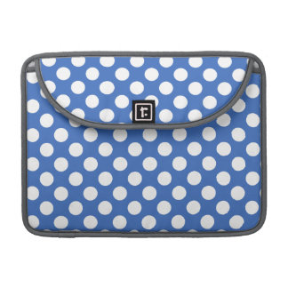 Cerulean Blue Polka Dots Sleeve For MacBooks