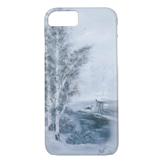 """Cerulean Blue Winter"" iPhone 7 Case"