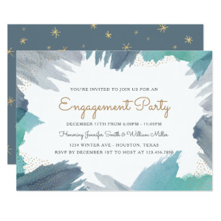 Engagement cards greeting photo cards zazzle cerulean engagement party card stopboris