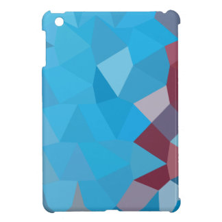 Cerulean Frost Blue Abstract Low Polygon Backgroun iPad Mini Case