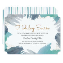 Cerulean Holiday Party Invitation