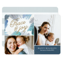 Cerulean Holiday Photo Card