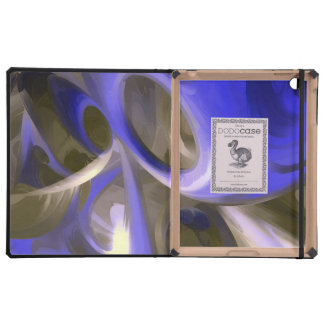 Cerulean Pastel Abstract iPad Cases