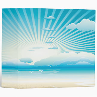 Cerulean Skies and Sea Landscape Painting  Binder