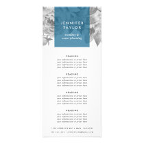 Cerulean | Vintage Floral Pricing or Services Rack Card