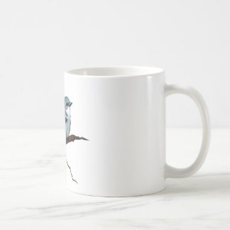 Cerulean Warbler: Bird: Oil Pastel Art on White Classic White Coffee Mug