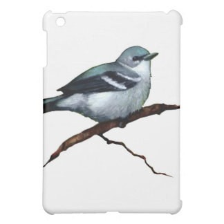 Cerulean Warbler: Bird: Oil Pastel Art on White Cover For The iPad Mini
