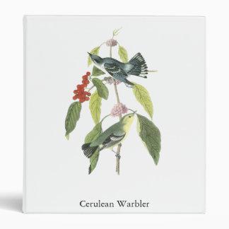 Cerulean Warbler, John Audubon 3 Ring Binder