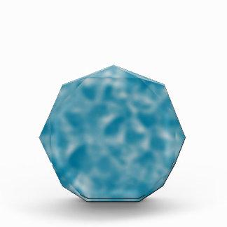 Cerulian Blue and White Mottled Acrylic Award