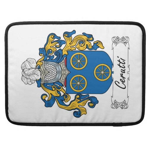 Cerutti Family Crest MacBook Pro Sleeves