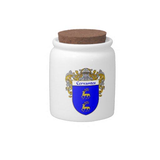 Cervantes Coat of Arms/Family Crest Candy Jars