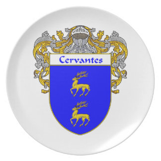 Cervantes Coat of Arms/Family Crest Plate