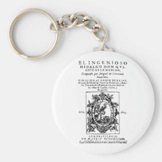 Cervantes -- Don Quixote De La Mancha Basic Round Button Keychain