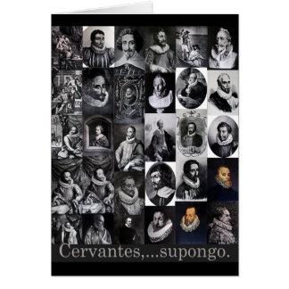 Cervantes … supongo tarjetón