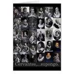 Cervantes,… supongo tarjeta de felicitación
