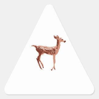 Cervatillo - ciervo del bebé pegatina triangular