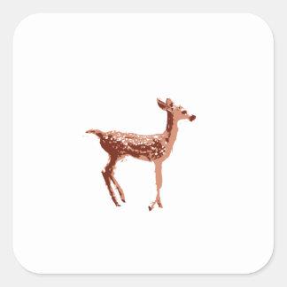 Cervatillo - ciervo del bebé pegatina cuadrada