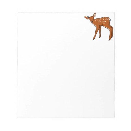Cervatillo lindo de los ciervos bloc de notas
