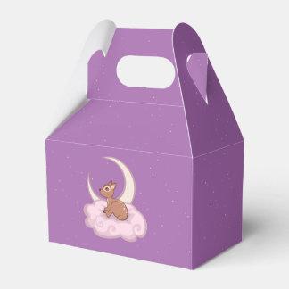 Cervatillo manchado estrella soñadora en el arte cajas para regalos de boda