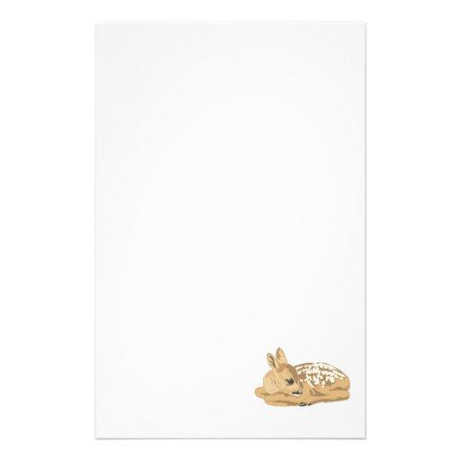 cervatillo pacífico de los ciervos del bebé  papeleria de diseño