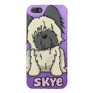 Cervatillo púrpura Skye Terrier del dibujo animado iPhone 5 Protector