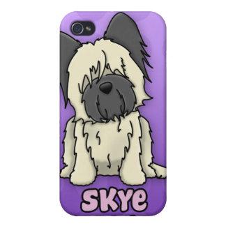 Cervatillo púrpura Skye Terrier del dibujo animado iPhone 4 Funda
