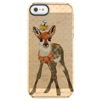 Cervatillo y pequeño caso del iPhone del pájaro Funda Clearly™ Deflector Para iPhone 5 De Uncommon