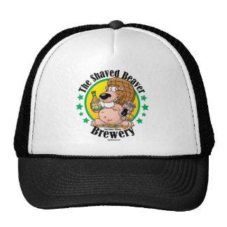 Cervecería afeitada del castor gorras de camionero