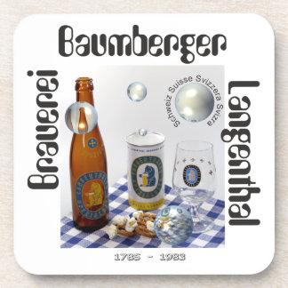 Cervecería Baumberger Langenthal posavasos de corc