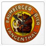 Cervecería Baumberger Langenthal Reloj