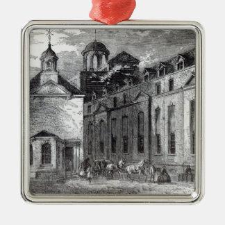 Cervecería de Barclays, 1829 Adorno Cuadrado Plateado