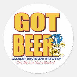 Cervecería de Davidsons de la aguja - cerveza cons Pegatina
