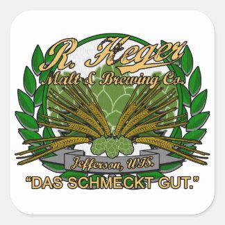 Cervecería de Heger Pegatina Cuadrada