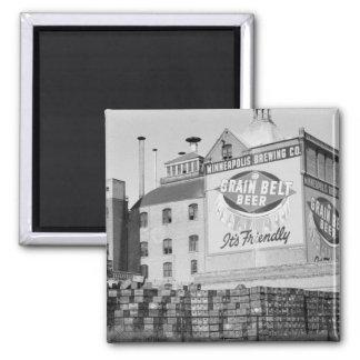 Cervecería de Minneapolis, los años 30 Imán Cuadrado
