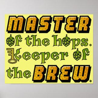 Cervecería del cervecero de la cerveza del brew poster