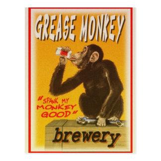 cervecería del mono de grasa postal