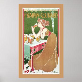 Cervecería Fraikin-Courard 1900 Poster