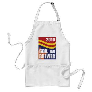 Cervecero 2010 de enero del gobernador delantal