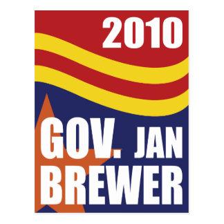 Cervecero 2010 de enero del gobernador tarjeta postal