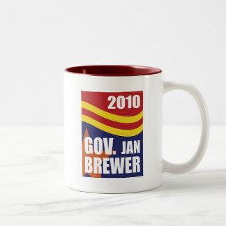 Cervecero 2010 de enero del gobernador taza