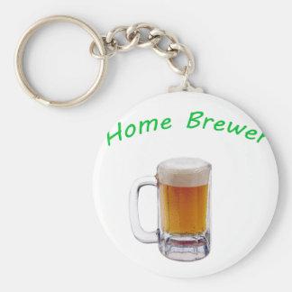 Cervecero casero llavero redondo tipo pin